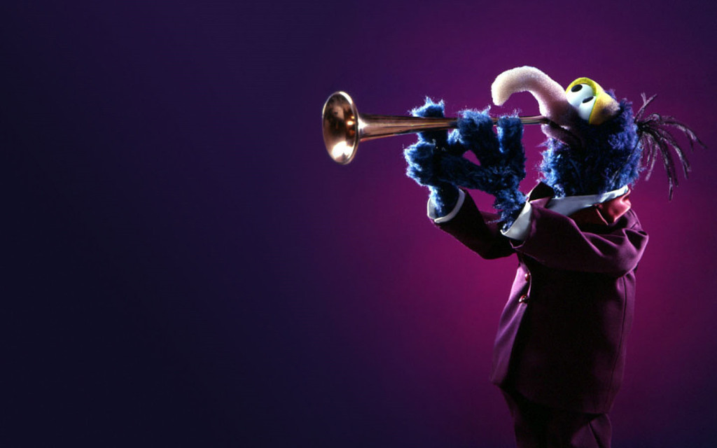 Gonzo the Great playing the trumpet